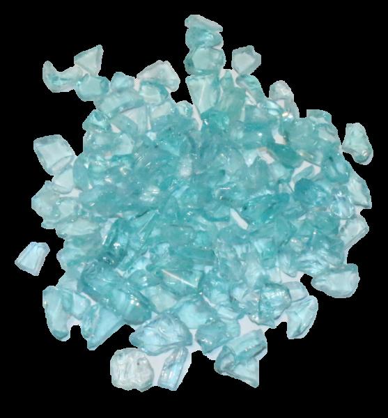 """Glassplitt Blue Ice"" 5-10mm im 500g Beutel"
