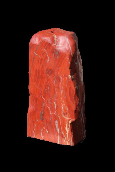 Red Jaspis mit Bohrung ca. 34x24x69cm