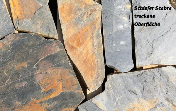 """Polygonalplatten Schiefer """"Scabra"""""""